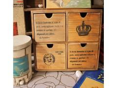 zakka杂货木质工艺品 做旧木盒 收纳盒 家居用品 装饰品 A18-9015