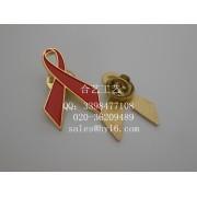 艾滋病徽章,红丝带徽章,爱心胸针,慈善机构襟章